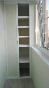 """Готовый пластиковый шкаф на балкон """" купить дешево от завода."""