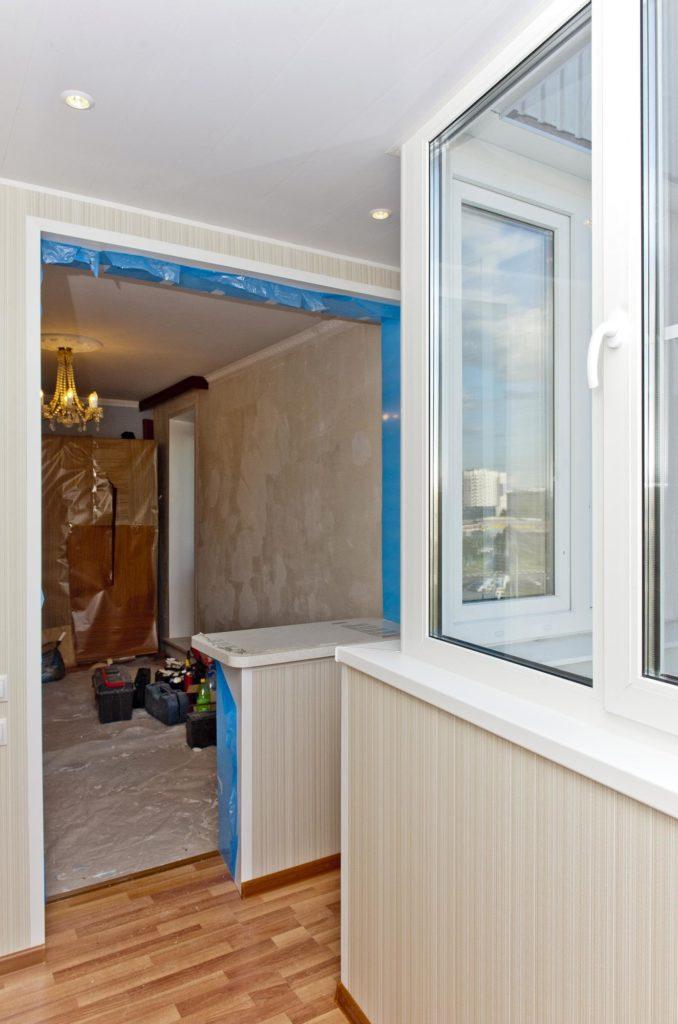 "Объединение балкона с комнатой "" цена присоединения балкона ."