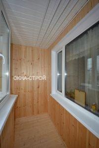 """Отделка балкона блок-хаусом """" цена от завода """"окна строй."""