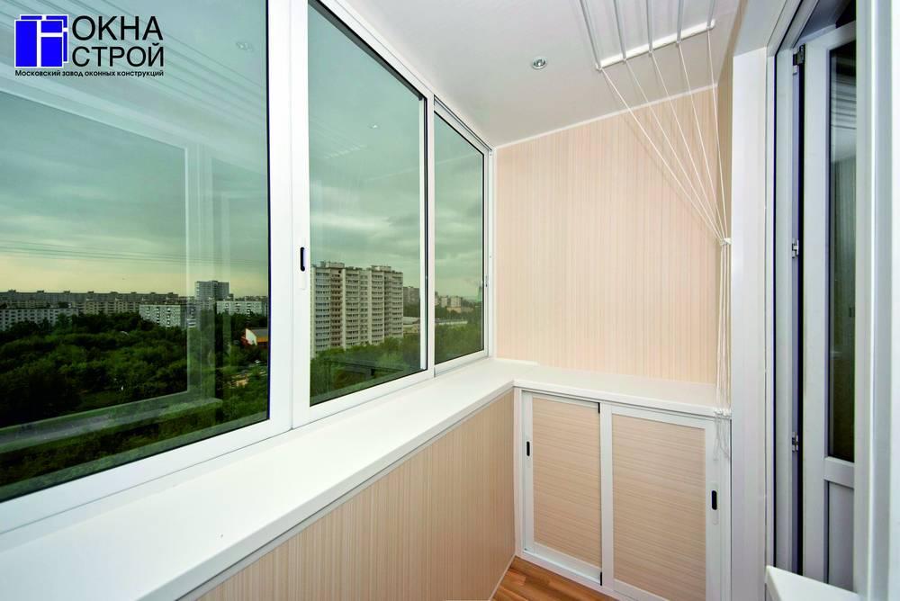 Раздвижной алюминиевый профиль для балкона krauss.