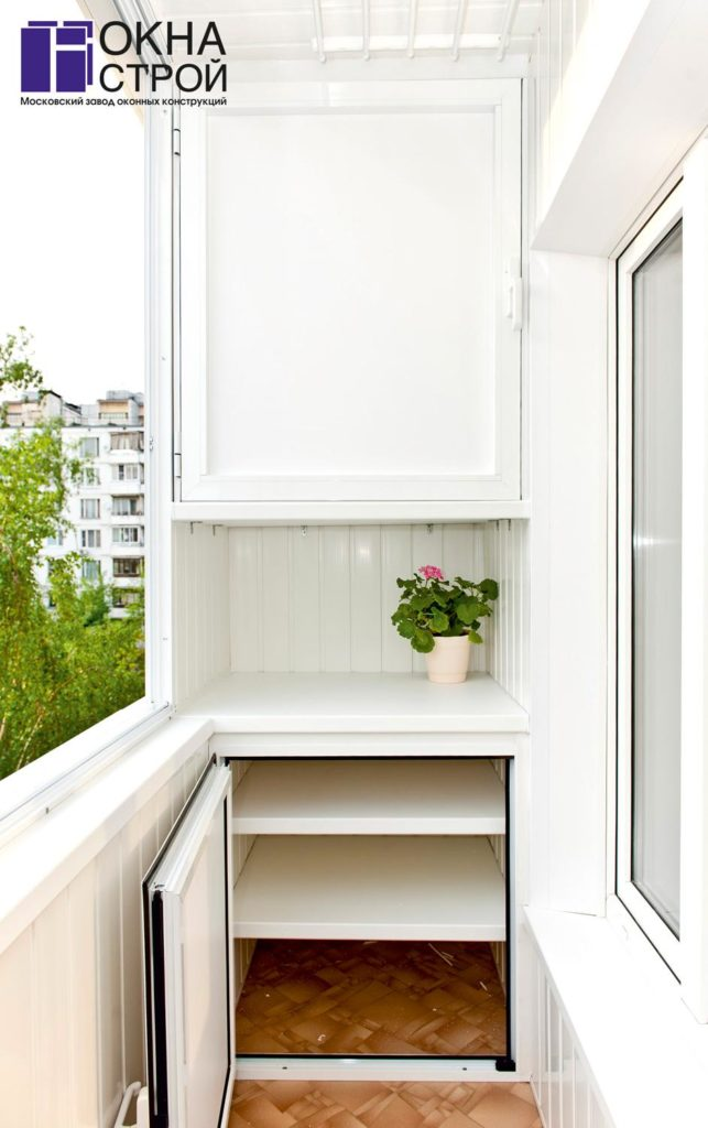 Системы хранения на балконе - окна-строй.