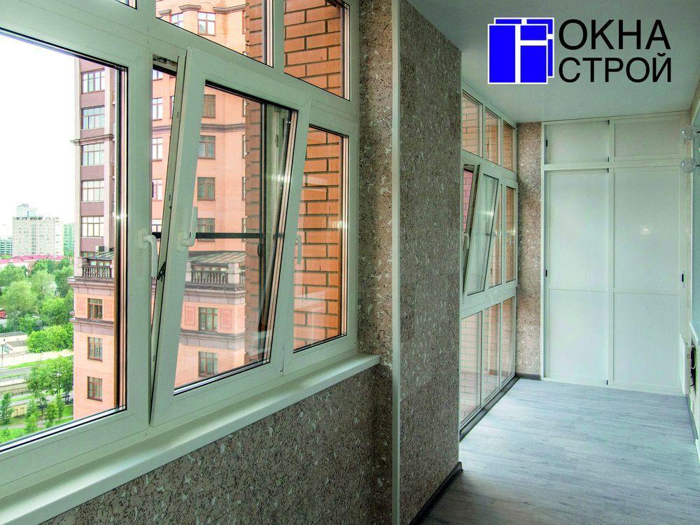 Теплое остекление окон балконов, лоджий rehau под ключ в мос.