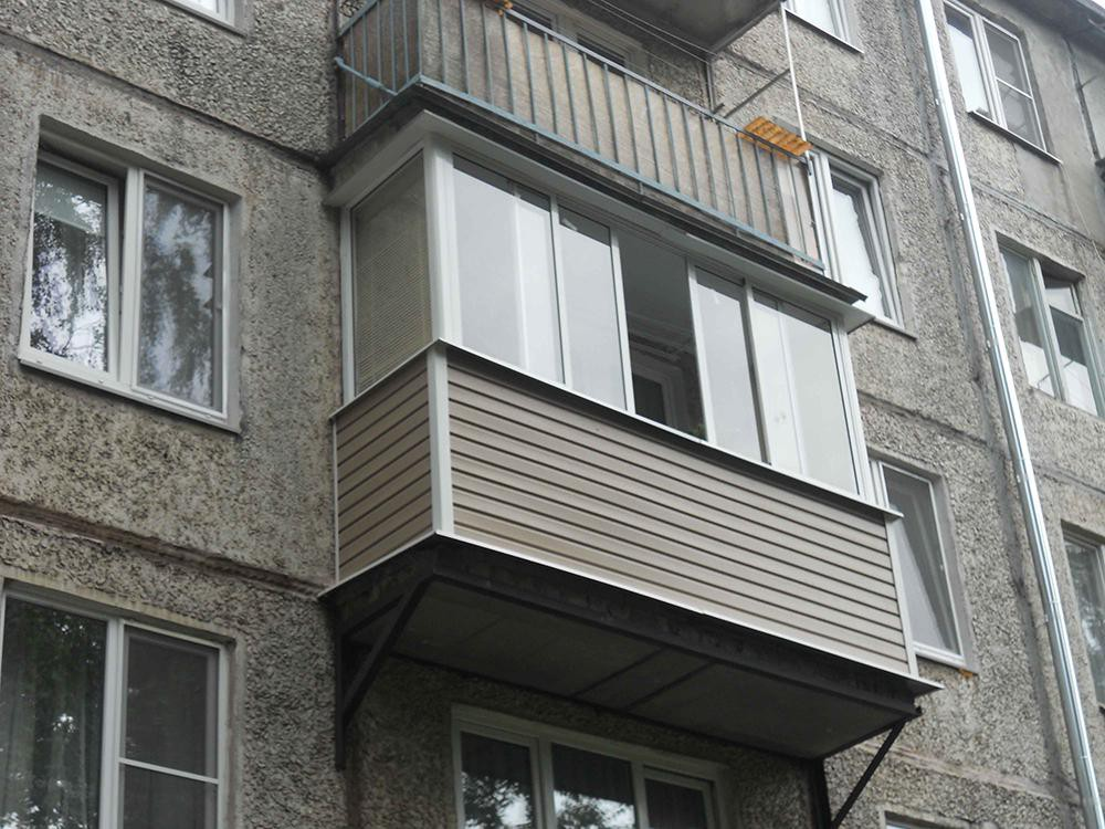 Остекление балкона для дома серии п 49.