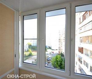 Совмещение балконов - окна-строй.