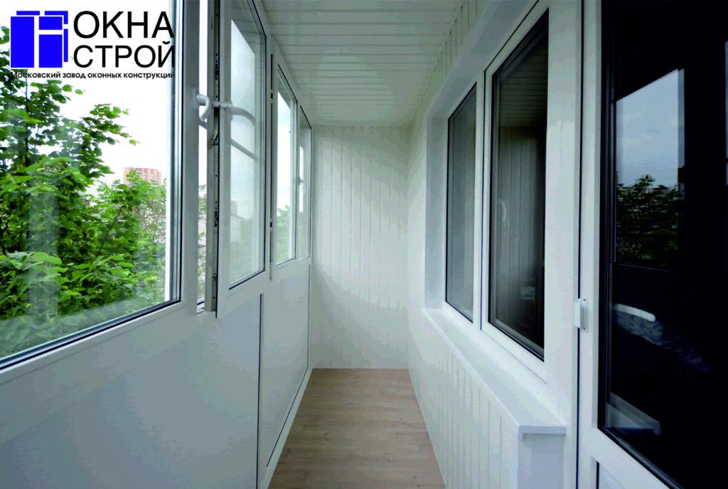 """Остекление балконов, лоджий пластиковым профилем rehau """" цен."""