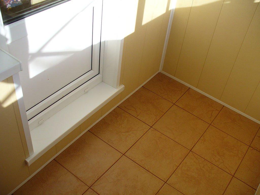 """Отделка балконов внутри плиткой """" цены укладки в москве от з."""