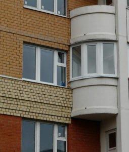 """Остекление полукруглых балконов в москве """" цена от завода """"о."""