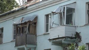 Обрушение крыши балкона