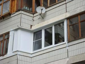 Балкон сапожок П-44 теплое остекление