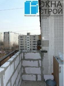 Пеноблочная кладка на балконе