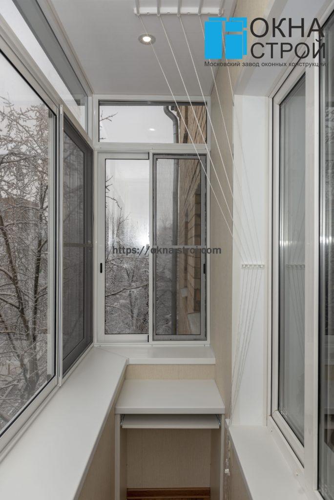 Балкон в сталинском доме с выносом, вид изнутри