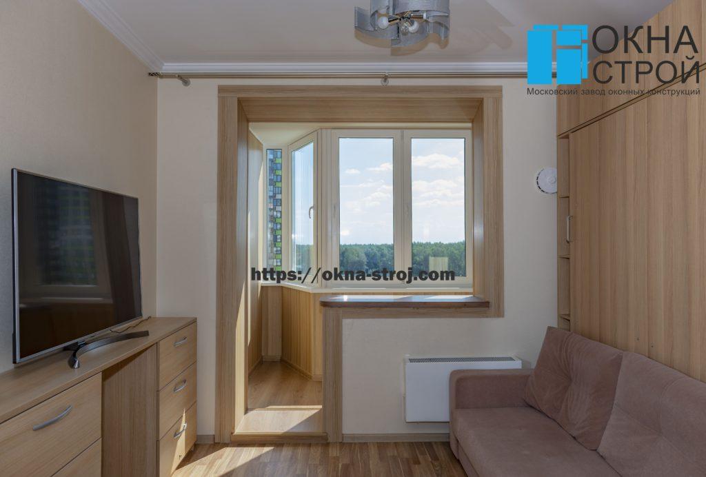 Совмещение балкона сапожок П-44 с комнатой