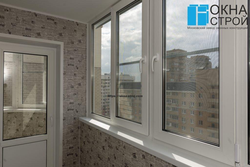 Совмещение двух балконов с отделкой лам.панелями